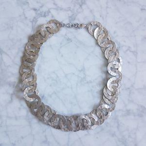 🌼 Link necklace in silver tones